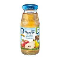 Gerber сок яблоко - груша  c 4 мес. 175мл