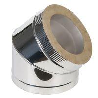 Угол дымоходный 45° утепленный (inox 304-0.5mm)