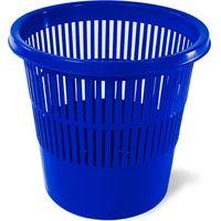 Корзина для бумаг пластик 10л синияя