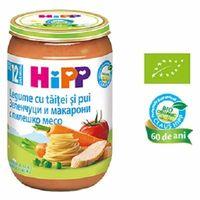 Hipp пюре овощи, лапша и курица, 12+меc. 220г