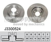 J3300524 Диск тормозной Getz 1,1-1,6 2003-