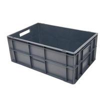 купить Пластиковый ящик с крышкой 600х400х270 мм, серый в Кишинёве