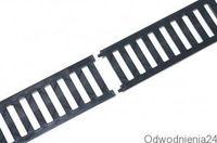 01787 Решетка  PVC  B125 0.5m черная