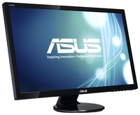 """27.0"""" ASUS """"VE278H"""", G.Black (1920x1080, 2ms, 300cd, LED50M:1(1200:1), 2xHDMI, 2x3W) (27.0"""" TFT+ LED backlight, 1920x1080, 0.311mm, 2ms (Gray to Gray), DC50000000:1 (1200:1), 300cd/m2, 170°/160°, H:24-83kHz, V:50-75Hz, D-Sub, 2xHDMI, Speakers 2x3W)"""