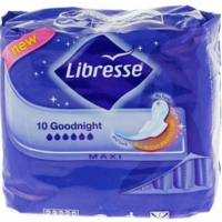 Libresse прокладки Maxi Goodnight, 10шт