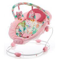 Baby Mix LCP-BR245-2PINK Шезлонг с музыкой и вибрацией розовый