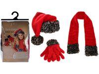 Набор шапка, шарф, перчатки