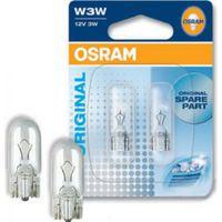 Автолампа OSRAM W3W (2821-02B 3W 12VW2 1x9.5D)