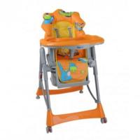 Babyono стульчик для кормления оранжевый Динозаврик