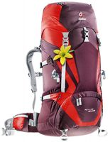 Deuter ACT Lite 45 +10 SL Aubergine-fire