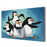Пингвины Мадагаскара, 20х30 см, алмазная мозаика