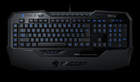 ROCCAT Isku / Illuminated Gaming Keyboard, Extra-large wrist rest, 8+3 programmable keys, Blue key illumination (6-level brightness), MACRO LIVE! Recording, EASY-SHIFT[+]™, USB, Black