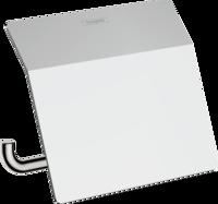 AddStoris Suport pentru hartie igienica cu capac, crom