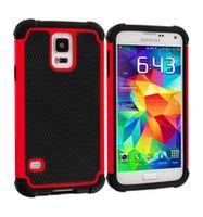 Husa de protectie Go Cool pentru Galaxy S5, Black-Red