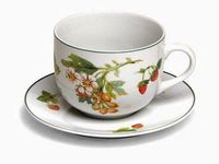 Чашка для завтрака 450ml с блюдцем Tognana Fragole