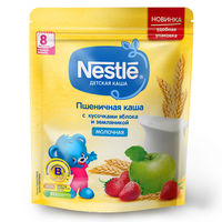 Каша пшеница-земляника-яблоко с молоком Nestle, с 8 месяцев, 220г