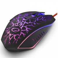 Mouse Esperanza LIGHTNING MX211, Gaming mouse, 2400dpi, optical sensor, multicolor LED, USB braided cable