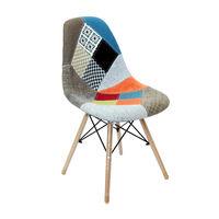 cumpără Scaun tapiţat cu picioare de lemn cu suport metalic, 550x480x470x830 mm, fabric în Chișinău