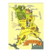 купить Магнит на холодильник - Карта Молдовы в Кишинёве