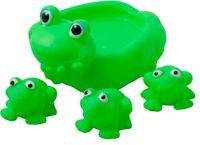 Набор резиновых лягушек для купания 4шт