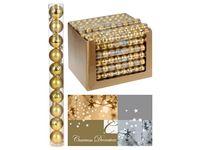 купить Набор шаров 10X40mm, золотые (мат/глянц), в тубе в Кишинёве