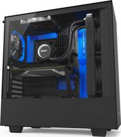 Case NZXT H500i Black Blue, with CAM Smart RGB lighting and Fan performance (CA-H500W-BL)