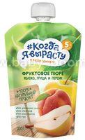 """""""Когда Я Вырасту"""" Пюре Яблоко-персик-груша (5 м+) 220 гр."""