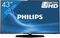 """43"""" LED TV Philips 43PUS6162/12, Black (3840x2160 UHD, SMART TV, PPI 700 Hz, DVB-T/T2/C/S2) (43"""" Black, 3840x2160 UHD, PPI 700Hz, SMART TV, HDR Plus, 3 HDMI, 2 USB  (foto, audio, video, USB recording), DVB-T2/T/C/S2, OSD Language: ENG, RO, Speakers 20W, 11.2 Kg, VESA 200x200)"""