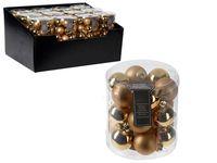 Set globuri 18X30mm, 9mate, 9lucioase, aurii, in cilindru