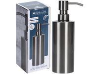 Диспенсер для жидкого мыла Сталь H19cm, D6cm, металл
