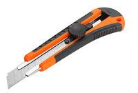 Нож 18 мм усиленый пластик зажим винтовой Wokin