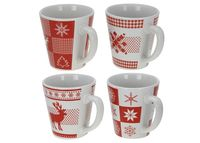 купить Чашка рождественская бело-красн, 400ml в Кишинёве