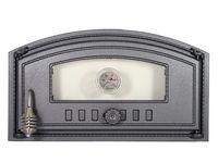 Дверца чугунная со стеклом и термометром правая DCH4T