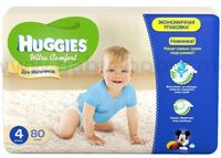 Huggies Ultra Comfort Giga Boy 4 (8-14 кг.) 80 шт.
