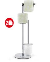 13599 Tatkraft Wendy Гарнитур для туалета с держателем для туалетной бумаги из хромированной стали