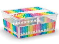 купить Коробка с крышкой School M, 18l, 40X34X17cm в Кишинёве