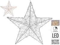 """Световая фигура """"Звезда"""" 20LED 30X8cm, таймер, 2XAA, теп"""
