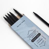 Угольный карандаш монолит Малевичъ, средний 1 шт.