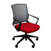 cumpără Scaun de birou 610x630x885 mm, gri cu roşu în Chișinău