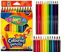 Цветные карандаши 12 шт. Jumbo Colorino