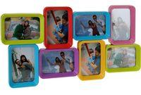 купить Фоторамка - коллаж 8фото (10X15cm) разноцветная в Кишинёве