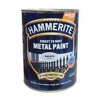 Hammerite Краска для металла Серебристая гладкая 2.5л