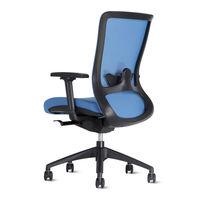 купить Офисный стул 690x590x970 мм, черный с красным в Кишинёве