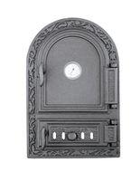 Дверца чугунная глухая правая с термометром DW10RT