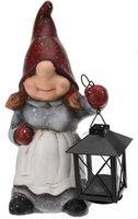 Festive Deco Dwarf with lantern 27.5cm (34289)
