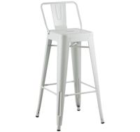 купить Металлический барный стул 490x490x1260 мм, белая в Кишинёве