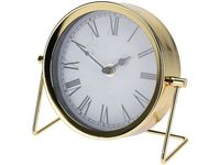 Часы настольные Классика 18X16X7cm, металл, золотой