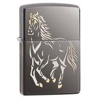 Zippo 28645 Running Horse Black Ice