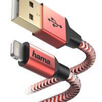 Кабель для моб. устройства Hama 178299 Reflective Lightning 1.5 Red