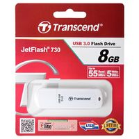 Flash Drive Transcend JetFlash 730 White 8Gb